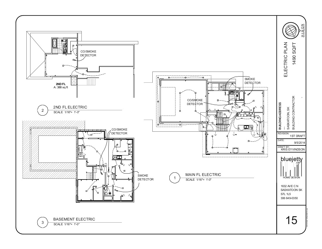 Construction plan home design saskatoon for Residential electrical blueprints