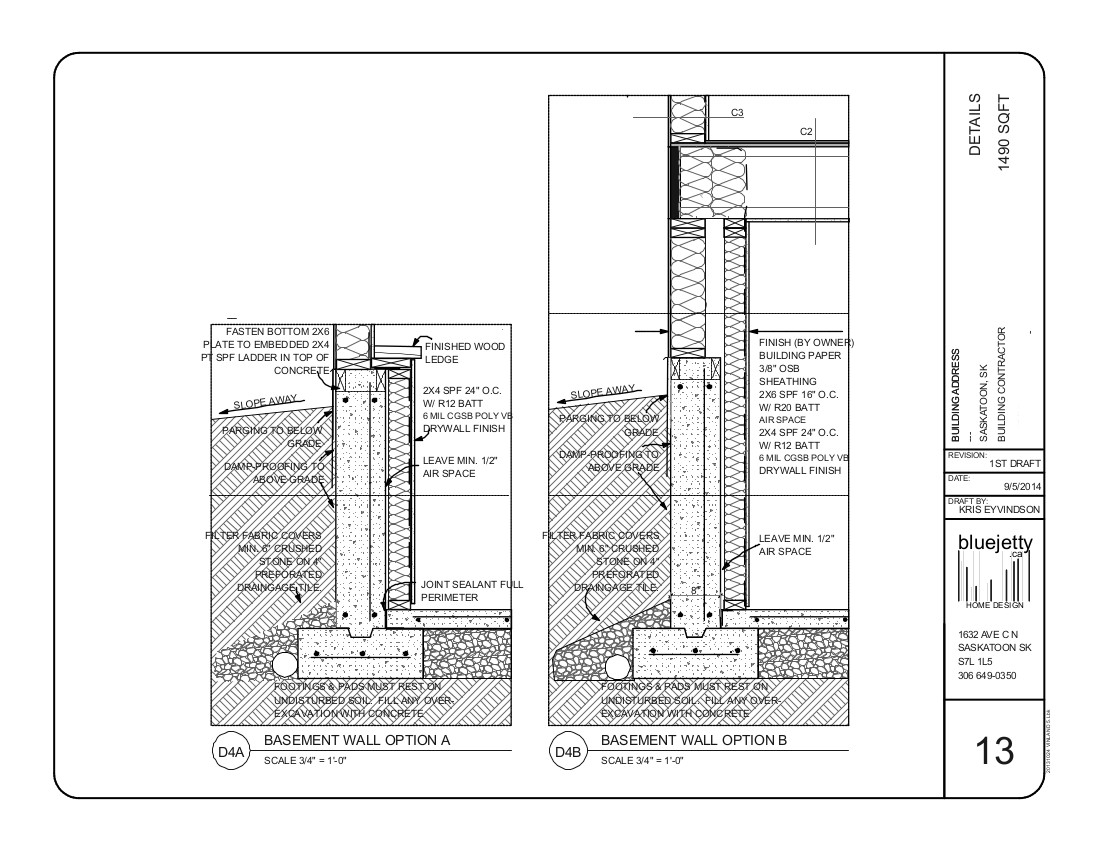 plan and elevation of residential building