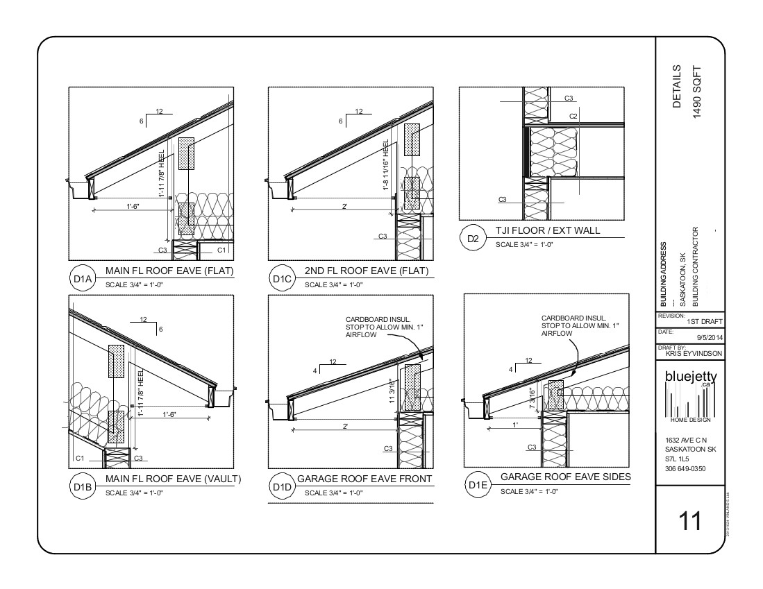 Construction plan home design saskatoon for Construction drawings and details for interiors